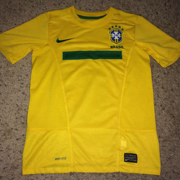 Sale!! Nike BRASIL National Team Soccer Jersey BRAZIL Football Shirt