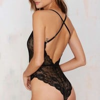 Nasty Gal Claudia Lace Bodysuit
