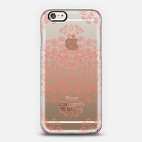 Coral Ambrosia Crystal Clear iPhone 6 case by Monika Strigel | Casetify