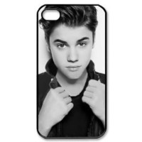 Justin Bieber B/W New Style Durable Iphone 4,4s Case