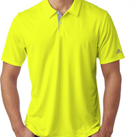 adidas men's gradient 3-stripes polo - solar yellow (xl)