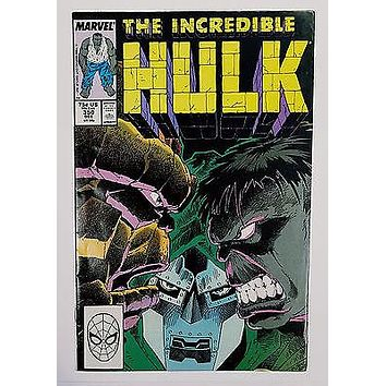 SIGNED BY PETER DAVID Incredible Hulk #350 Marvel Comics 1988 Thing Defalco
