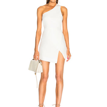 Michelle Mason Back Strap Mini Dress in Ivory | FWRD