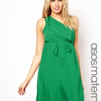 ASOS Maternity Exclusive Dress With One Shoulder -