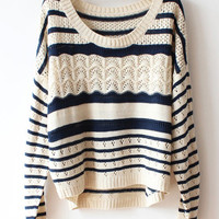 Hollow Striped Sweater BADJ