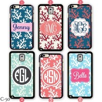 Personalized Samsung galaxy note 4 cover Monogram iPhone 6 case S3 S4