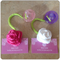 Avent Rose Pacifier Clip Choose 1, Rose Binky Clip, Rose Binkie Clip, Rose Pacifier Clips, Flower Pacifier Clips, Baby Shower Gift,