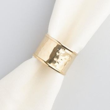 Gold Napkin Rings Set of 4