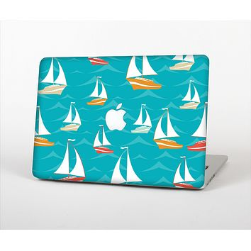 """The Vector Colored Sailboats Skin Set for the Apple MacBook Air 11"""""""
