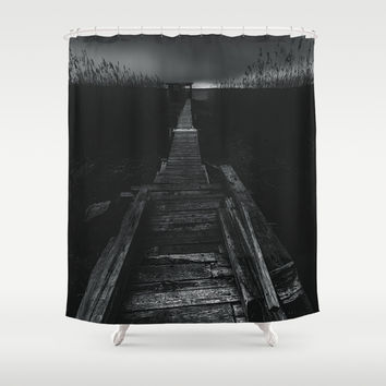 On the wrong side of the lake 2 Shower Curtain by HappyMelvin
