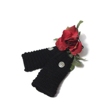 Fingerless Gloves, Hand Knit Gloves, Knit Gloves, Hand Warmers, Knit Hand Warmers, Black Gloves Fiber Art, Womens Gloves, Fashion Gloves