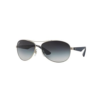 Wire-Frame Metal Sunglasses, Antique Silver - Ray-Ban