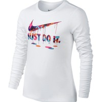 Nike Girls' Just Do It Long Sleeve Crew Graphic Shirt