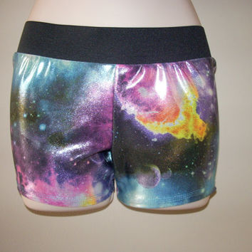 GALAXY SPANDEX SHORTS by LeBow1cheerbows on Etsy
