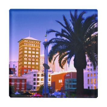 SAN FRANCISCO CITY VIEW GLASS COASTER