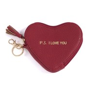 PS. I Love You Heart Zip Pouch