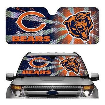 Licensed Official New NFL Chicago Bears Car Truck Windshield Folding SunShade Standard Size