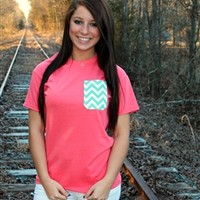 Pocket Tees - Coral