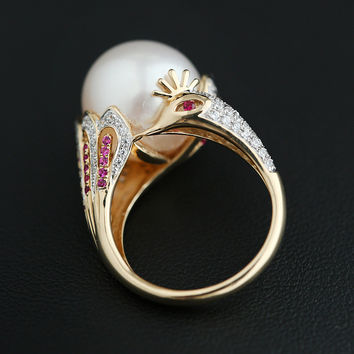 Stylish Gift Shiny New Arrival Jewelry Sea Pearls Accessory Ring [4914837124]