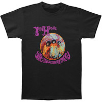 Jimi Hendrix Men's  Experience Slim Fit T-shirt Black Rockabilia