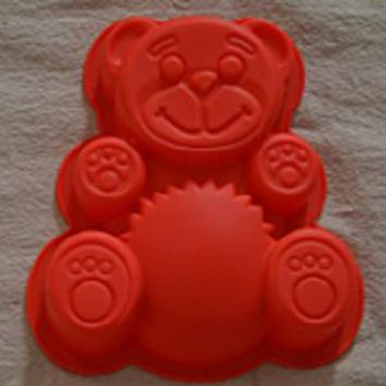 Bear Silicone Cake Chocolate Soap Pudding Jelly Candy Ice Cookie Biscuit Mold Mould Pan Bakeware,free shipping
