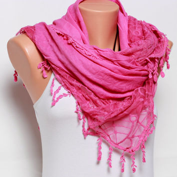 gift for her Womens scarves Pink Scarf shawl Womens fashion scarves summer scarves womens clothing scarves soft Cotton Scarf