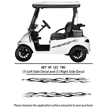 Golf Cart Vinyl Graphic Decals, Set of (2) TWO - STYLE F103