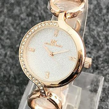 MK Michael Kors Trending Ladies Simple Diamond Quartz Movement Wristwatch Watch I-Fushida-8899