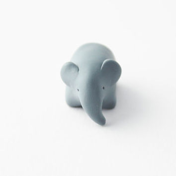 elephant figurine polymer clay elephant totem miniature element totem asian elephant baby elephant