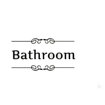 Bathroom Decor Toilet Door Vinyl Decal