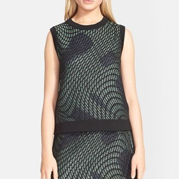 Women's M Missoni Graphic Knit Sleeveless Top,