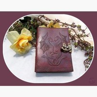 Double Dragon Latched Leather Journal