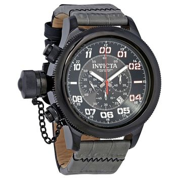Invicta Russian Diver Chronograph Black Dial Mens Watch 22289