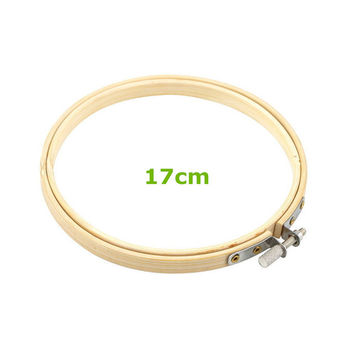 Wooden Cross Stitch Machine Embroidery Hoop Ring Bamboo Sewing Tools Free Shipping 17cm 6.7inch