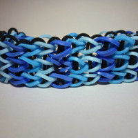 Loom Band Bracelet - Blue