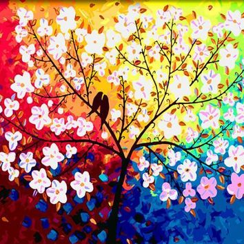 Art Oil Painting Canvas Love Tree No Frame