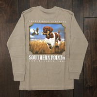 Southern Point - Youth Pointer Marsh Catch LS Tee - Tan