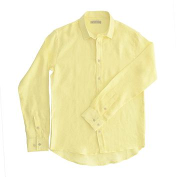 98 Coast Av Linen Shirt Yellow