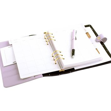 LEATHER PERSONAL PLANNER: LILAC - Time Planner - Planners - Organising
