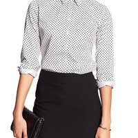 Banana Republic Womens Factory Non Iron Poplin Shirt