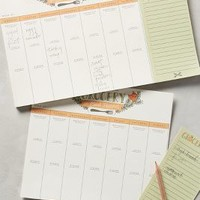9th Letter Press Grocery And Meal Planner in Lime Size: One Size Books