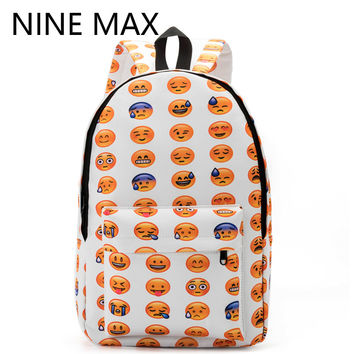 Emoticon Emo Emotional Facebook social media have a good day bag backpack teens adult edm raver kids