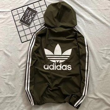 ADIDAS 2018 new sports wear is light and breathable sun protection clothing F0785-1 Green