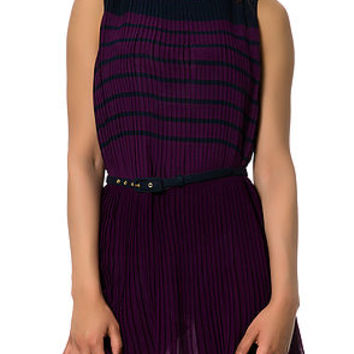 The French Connection Dress in Purple and Navy