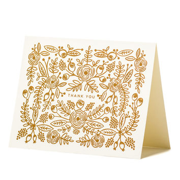 Rose Gold Thank You Card