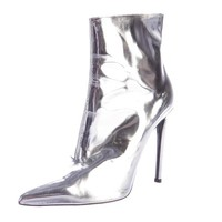 Women Metallic Ankle Boots