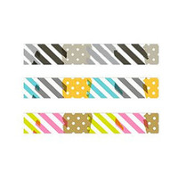 MT Washi Tape: MT EX 1P Deco /  Tsugihagi Patch Work / Black / Pink /Blue