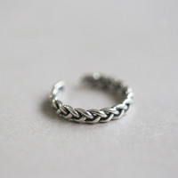 Gift Stylish Jewelry New Arrival Shiny 925 Silver Simple Design Twisted Korean Accessory Ring [6057513857]