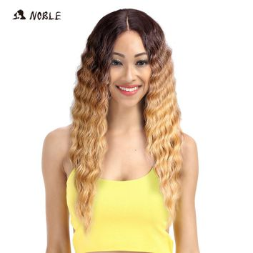Noble Hair Products Lace  Wigs 30 Inch Long Wavy Dark Root Synthetic Wigs For Black Women 2 Colors Available Free Shipping