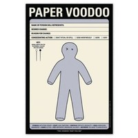 Paper Voodoo Pad ? Gag Notepad To Bless or Hex by Knock Knock